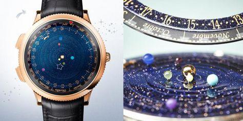 2f62a95b0bb Marca cria relógio de pulso com planetas do sistema solar girando no lugar  de ponteiros