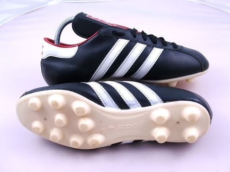 81a605e19c3 vintage ADIDAS UWE Football Boots 6 39+ rare 80s black leather 70s ...