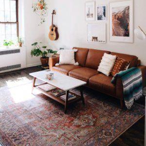 Distressed Medallion Rug Living Decor Home Furniture Living Room Designs