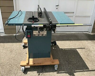 Industrial T36727 10 In Contractor Style Table Saw 3 Hp 110v 230v Single Phase In 2020 Woodworking Table Saw Cabinet Table Saw Table Saws For Sale