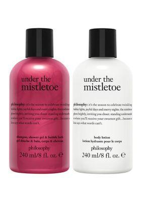 Philosophy Under The Mistletoe 2 Piece Set In 2021 Philosophy Shower Gel Under The Mistletoe Shower Gel