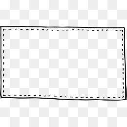 点線実線手描き フレーム 素材 セリフ 素材 フレームデザイン