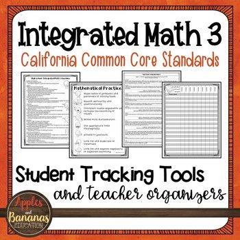 High School Integrated Math 3 Student Tracking Tools And Teacher Organizers Teacher Organization High School Posters Math Learning Center