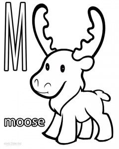 Moose Coloring Page Animal Coloring Pages Coloring Pages Deer