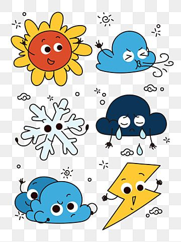 Cute Weather Cartoon Image Adorable Weather Cartoon Png And Vector With Transparent Background For Free Download Cartoon Images Cartoon Clip Art Geometric Pattern Background