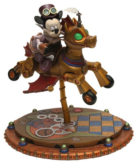 Steampunk Tendencies | Minnie's Steam-Powered Fantasyland Carousel Horse by Michael Sullivan