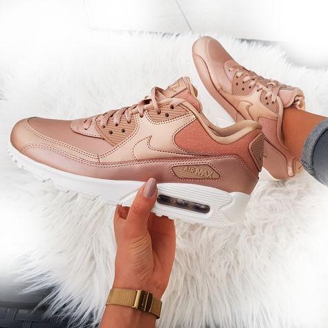 Billige Art und Weise Nike Air Max 90 Winter Damen Bronze