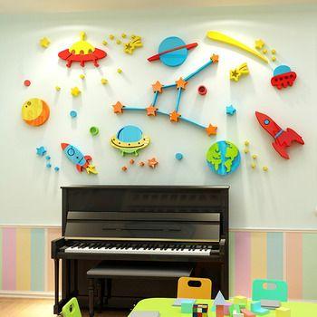 Cartoons Vinyl Art Decal Self-adhesive Decal Decal Room Decor Wall Sticker LI