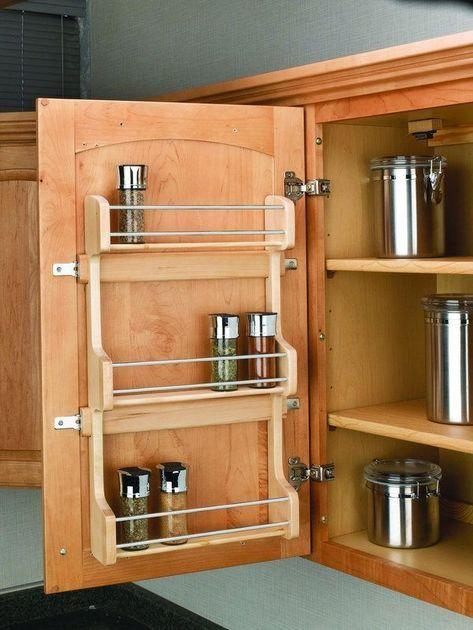 Rev A Shelf 4sr 18 Natural Wood 4sr Series Door Mount Spice Rack For 18 Inch Cabinets Kitchen Room Design Kitchen Furniture Design Diy Kitchen Storage