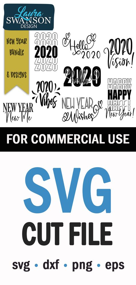 New Year/'s SVG Cut file Cutting Files Clip Art Sublimation File Let/'s Celebrate SVG File Printable Art Print