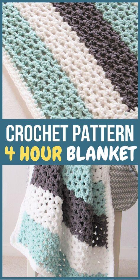 Crochet Afghans, Crochet Baby Blanket Free Pattern, Afghan Crochet Patterns, Crochet Yarn, Crochet Blankets, Crotchet, Knitting Baby Blankets, Beginner Quilt Patterns Free, Crochet Baby Blankets