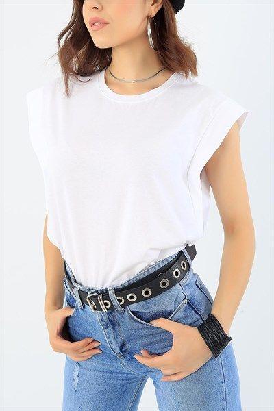19 95 Tl Beyaz Likrali Kolsuz Bayan Tisort 37902 Modamizbir 2020 Moda Moda Stilleri Mankenler