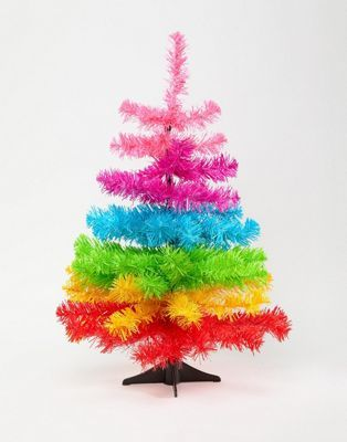 Paperchase 2ft Holidays Candy Rainbow Tree Decoration Rainbow Christmas Tree Rainbows Christmas Mini Christmas Tree