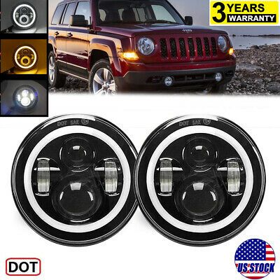 Sponsored Ebay 7inch Halo Angel Eyes Led Projector Headlights For Jeep Wrangler Patriot Compass In 2020 Projector Headlights Jeep Wrangler Led Projector