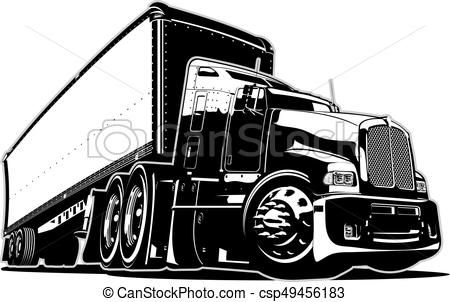 Cartoon Semi Truck Vector Stock Illustration Royalty Free
