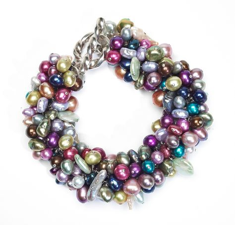 """Pearls aplenty"" bracelet project by Nancy Lasser for the January 2014 issue of Bead Style magazine. BeadStyleMag.com"