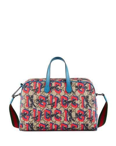 56e862596 Gucci Kids' Wolves-Print GG Supreme Shoulder Bag | Products | Gucci kids,  Bags, Gucci
