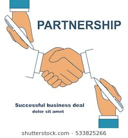 Two Businessman Holding A Pen In Hand Drawing Handshake As Symbol Of Partnership Cooperation Concept Background For How To Draw Hands Business Man Drawings