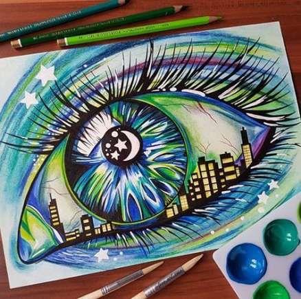 Trendy Eye Drawing Creative Colored Pencils Ideas Eye Drawing Eyeball Art Drawings