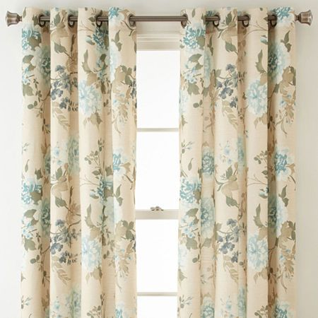 Jcpenney Home Farrah Grommet Top Curtain Panel Panel Curtains