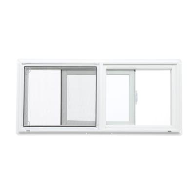 Tafco Windows 31 75 In X 13 75 In Left Hand Single Sliding Vinyl Window With Dual Pane Insulated Glass White Pbs3214 I The Home Depot Window Vinyl Sliding Vinyl Windows Slider Window