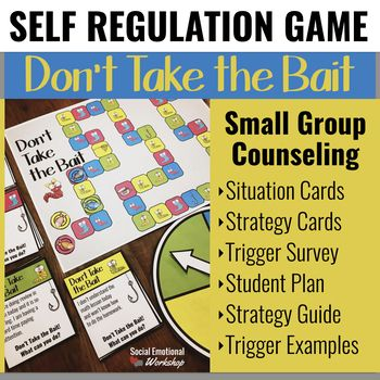 School Counseling Game For Self Regulation Strategies And Coping Skills Social Emotional Workshop Counseling Games School Counseling Games