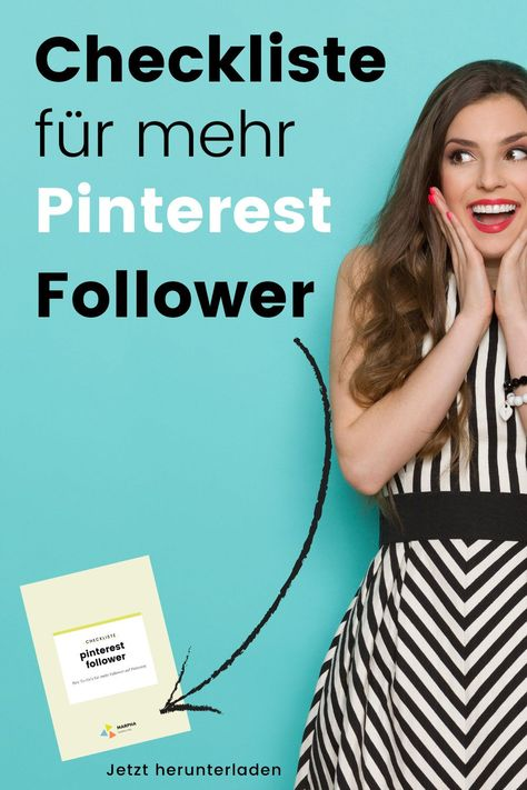 Checkliste für mehr Pinterest Follower