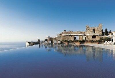Poolandspa.com The Hotel Caruso pool on Italy's beautiful Amalfi Coast