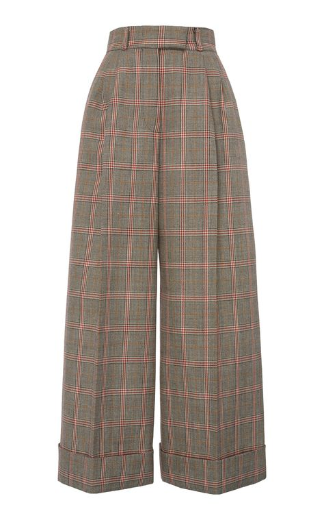 Pleated Plaid Trousers by Miu Miu   Moda Operandi