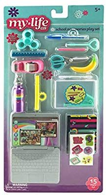 """My Life As School Accessories Play Set for 18"""" Dolls"""
