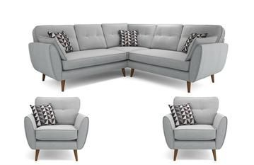 Addilyn Silver 4 Seater Fabric Sofa Set With Images Sofa Set Customised Sofa Buy Sofa Online