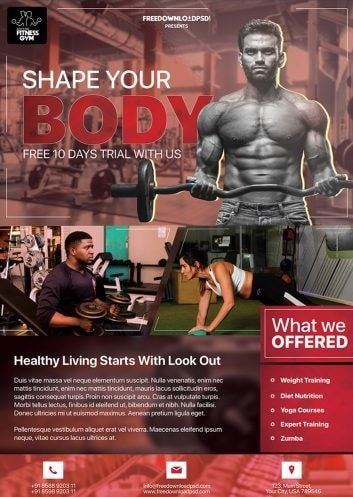 Gym Free Psd Flyer Template Free Psd Flyer Templates Free Psd