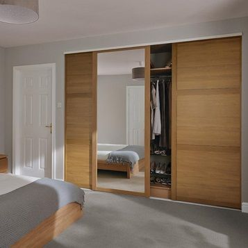 Enhance The Sense Of Space In Your Home With The Simple Styling Of Our Mirrored Sliding Doors Wardrobe Doors Bedroom Built In Wardrobe Minimalist Bedroom New minimalist bedroom sliding door