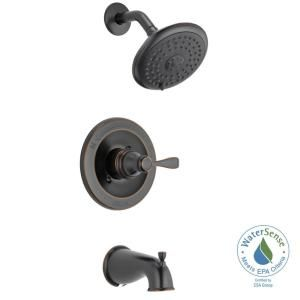 Delta Porter Single Handle 3 Spray Tub And Shower Faucet In Oil Rubbed Bronze Valve Included 144984c Ob A Tub And Shower Faucets Shower Tub Faucet