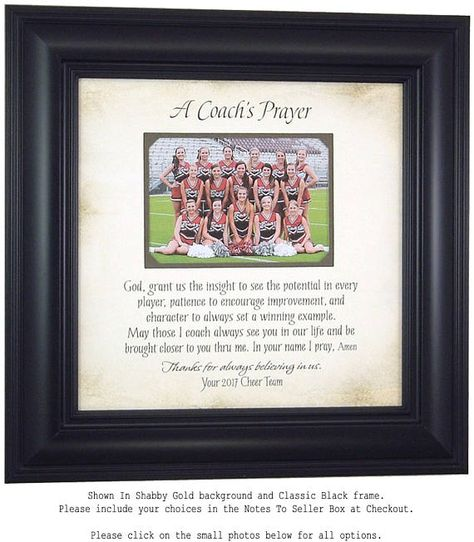 Personalized Picture Frames Cheer Coach Gift Custom Coach