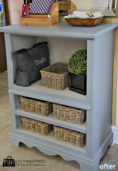A dresser without drawers give it a new life Our Shelves