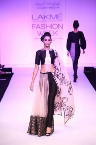 Lakme Fashion Week Day The half-lehenga, presented by Payal Singhal