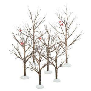 Miniature Village Bare Branch Trees Christmas Village Accessories Department 56 Christmas Villages