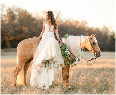 Our bride wearing a shear bodice fit and flare lace dress perfect for a rustic, country wedding Horse Wedding Photos, Country Wedding Photos, Country Style Wedding, Bridal Pictures, Wedding Pics, Country Western Wedding Dresses, Western Weddings, Wedding Ideas With Horses, Cowgirl Wedding Dresses