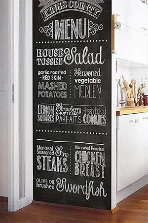 How To Make A Chalkboard Wall Without Paint 1 2 3 Chalkboard Wall Decal Chalkboard Chalkboard Wall