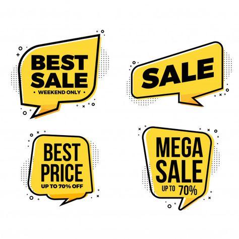 Best sale labels tags collection Premium Vector