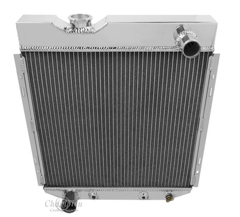 Champion Cooling Four Row Aluminum Radiator For Ford Mustang Six Cylinder Mc251 Aluminum Radiator Radiators Ford