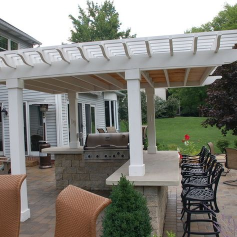 10k traditional covered patio design