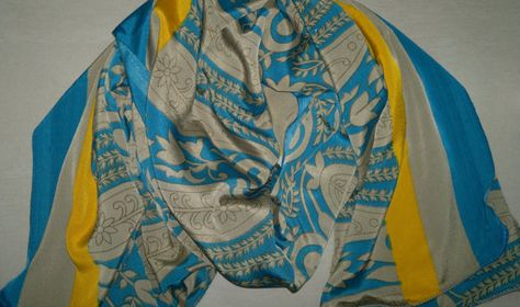 10% OFF for Pinners, Coupon Code 'PIN10'. Long Scarf Indian Silk Sari Scarf Turquoise and by relaxopping
