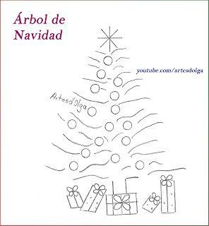 Artesd Olga Arbol De Navidad Bordado A Mano Christmas Tree Embroidery Patrones De Bordado Bordado A Mano Bordado Navidad