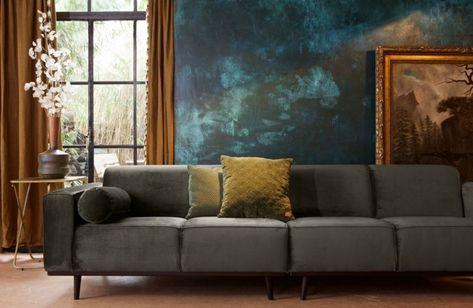 4 Zits Bank Design.Bepurehome Statement 4 Zits Bank 280 Cm Groen Living Room