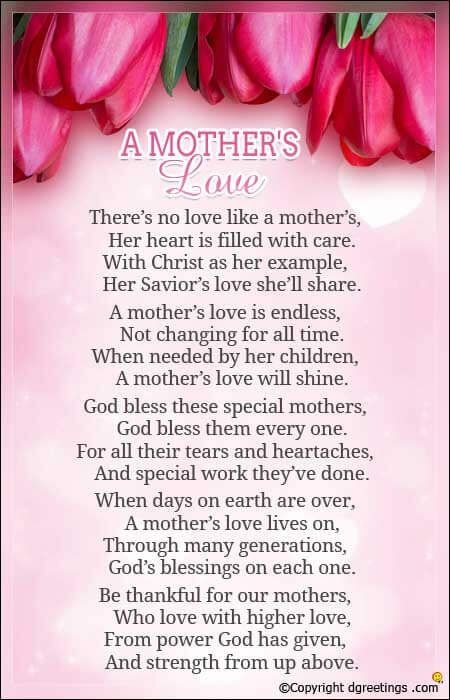Mother S Day Songs Cards Happy Mothers Day Poem Mothers Day Poems Mom Poems From Daughter