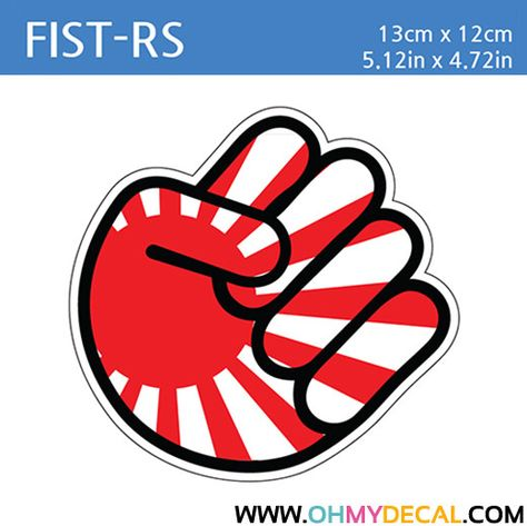 PEGATINA shocker hand drift jdm sticker bomb japon sol naciente STICKER vinilo