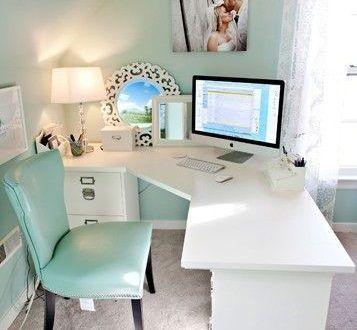 صور مكاتب 2020 تصميمات ديكورات مكاتب جديدة ميكساتك Feminine Home Offices Office Desk Decor Home Office Decor