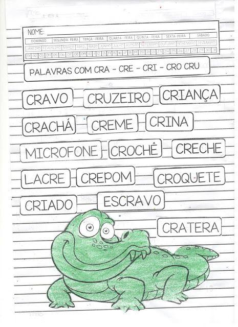 Sequencia Cr O Crocodilo Para Baixar Gratis Cra Cre Cri